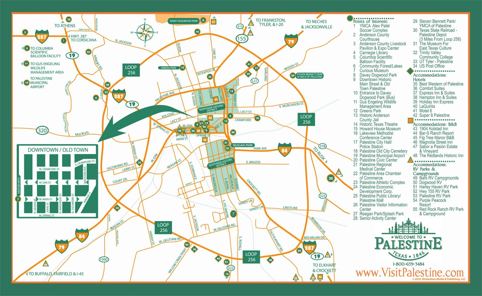 Map Of Palestine Tx 75801.Maps