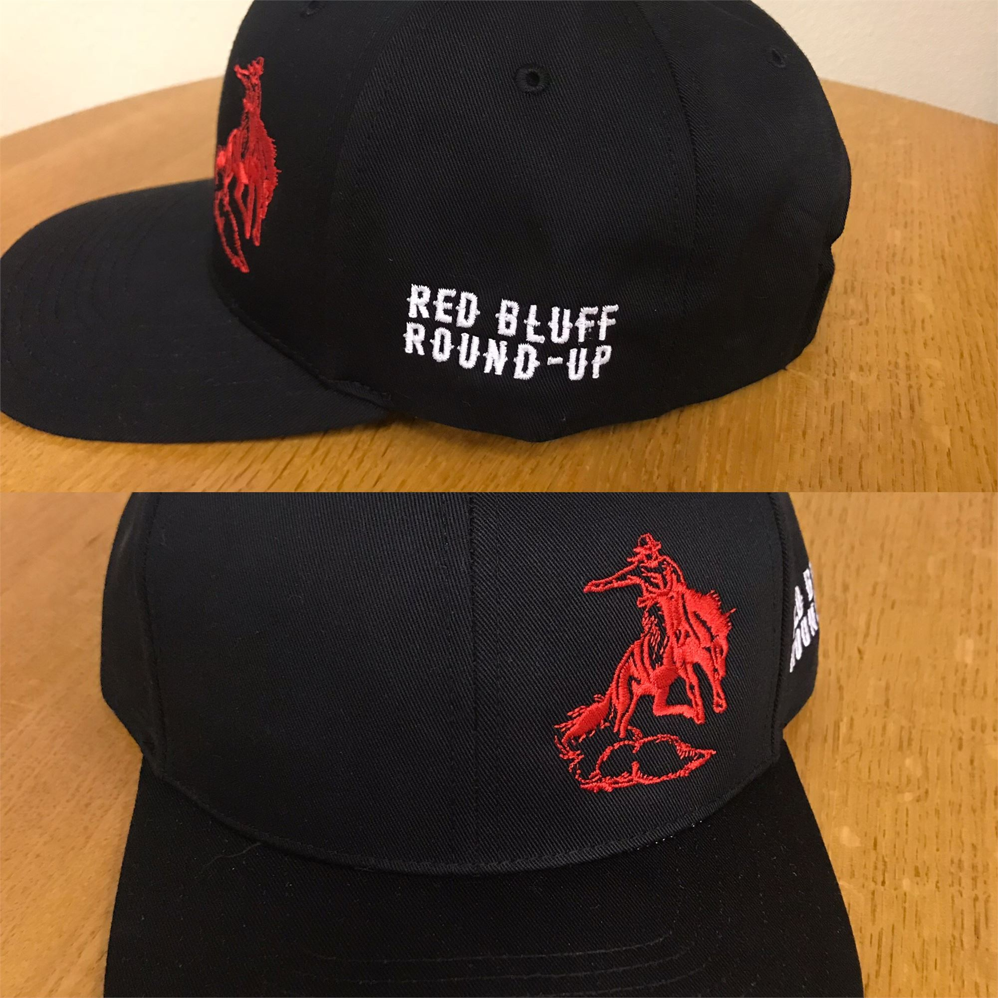 Pro Twill Black and Red Hat