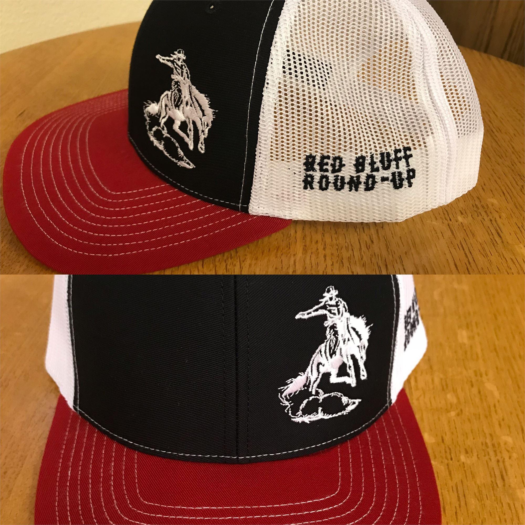 Black/White/Red Hat