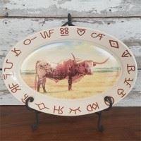 Longhorn Oval Platter