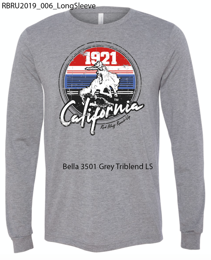 Gray Long Sleeve Red/White/Blue