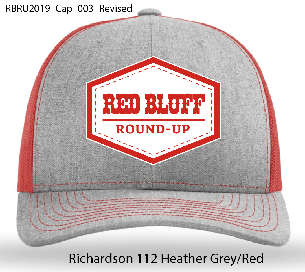 Red/Gray/White Patched Richardson Hat