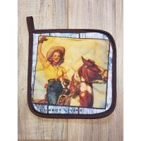 Retro Cowgirl Hot Pad