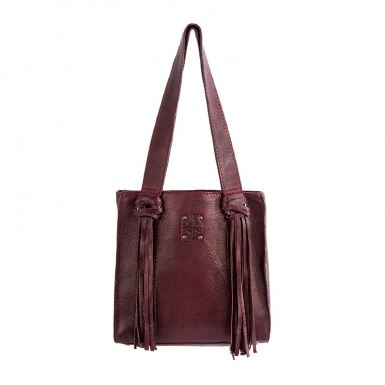 Dehlilah Shopper - Wine Red
