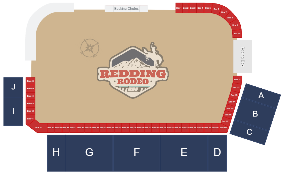 Redding Rodeo Map