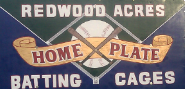 Redwood Acres Home Plate Batting Cages