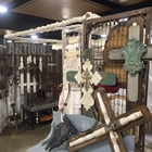 Antique wooden crosses and other items