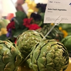 Artichokes displayed in the Agriculture Department