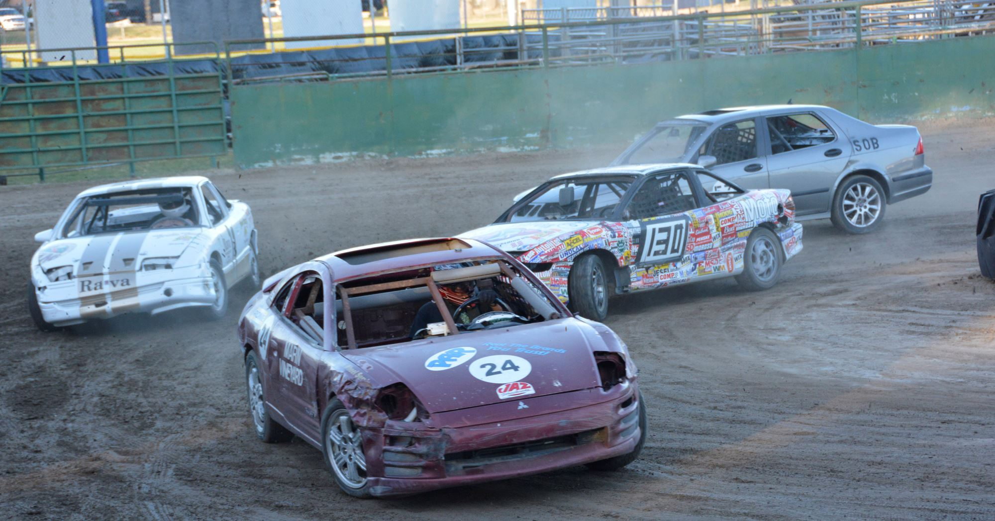 Farmer 500 destruction derby race vehicles