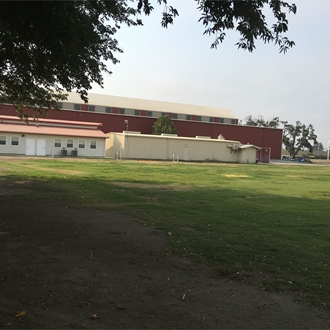 View of empty Carnival Lawn and Topo Center
