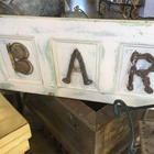 Bar sign made with re-purposed metals and nobs