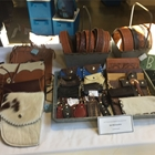 Hand crafted leather pouches and belts