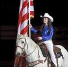 Paige & Ringo w/ American Flag