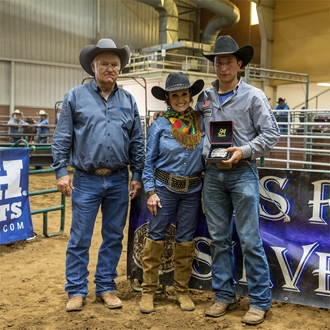 Haven Meged Preliminary Roping Champion