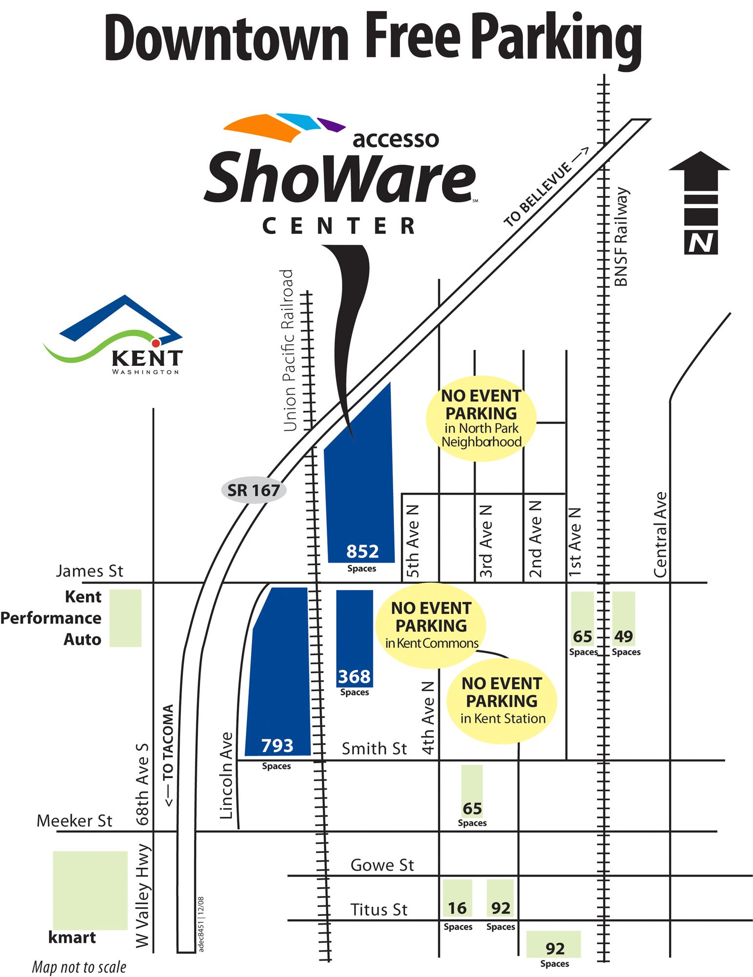 Parking Map of accesso ShoWare Center