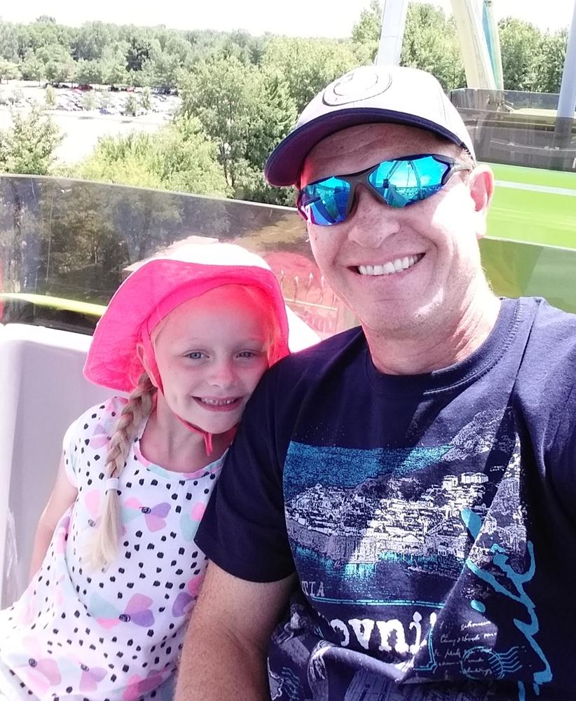 Amelia's first ride on a Ferris Wheel