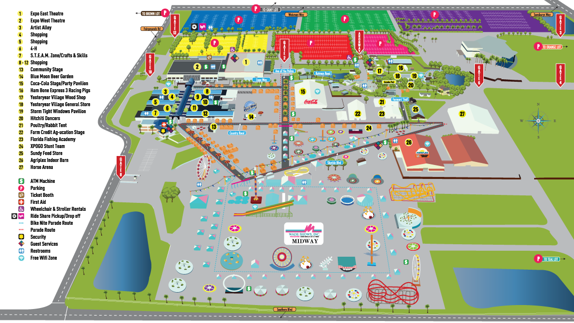 Fairgrounds Map on