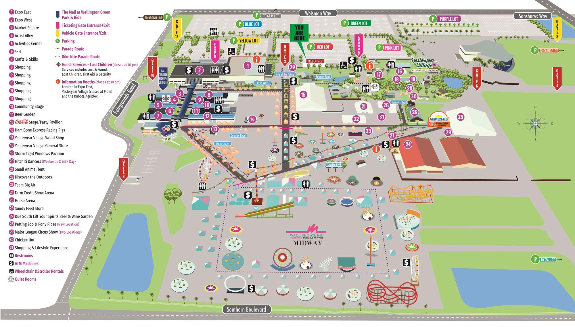 South Florida Fair Map Fairgrounds Map