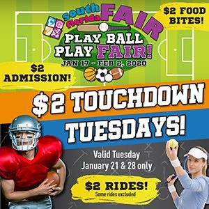 $2 Tuesdays at the South Florida Fair graphic