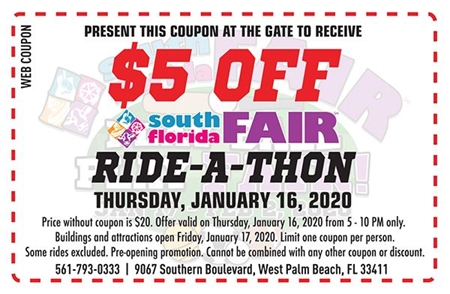 Ride-a-thon-$5 off coupon