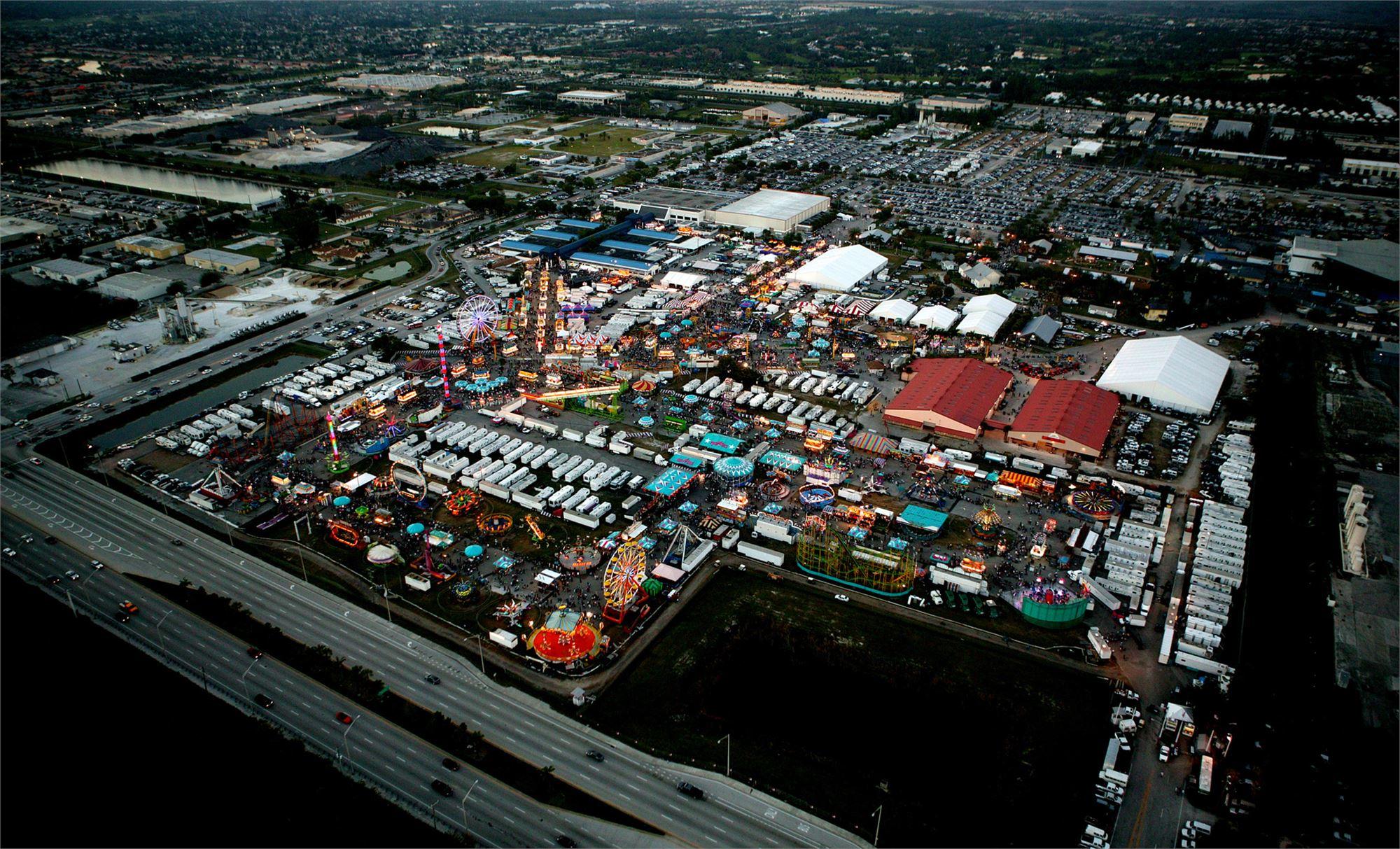 South Florida Fair Aerial View