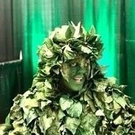 plant guy, guy plant, guy covered in leafs