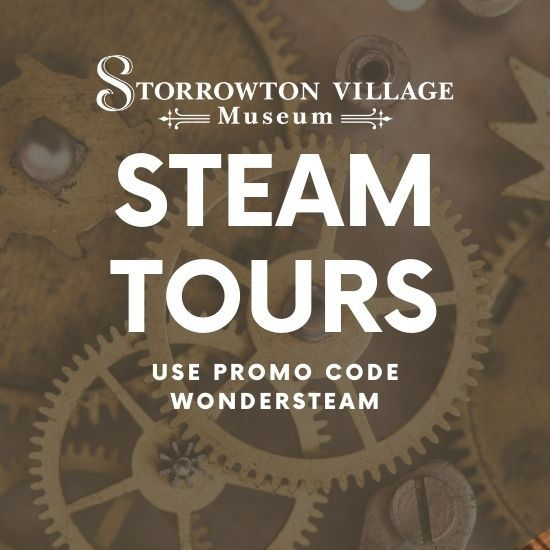STEAM Tours - Tuesdays to Saturdays at 3pm