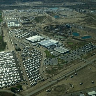 Aerial photograph of the Sweetwater Events Complex