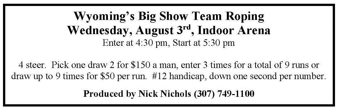 big show team roping