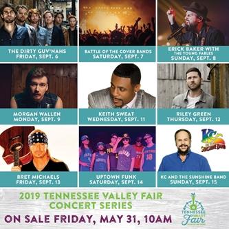 Tennessee Valley Fair Announces Concert Series