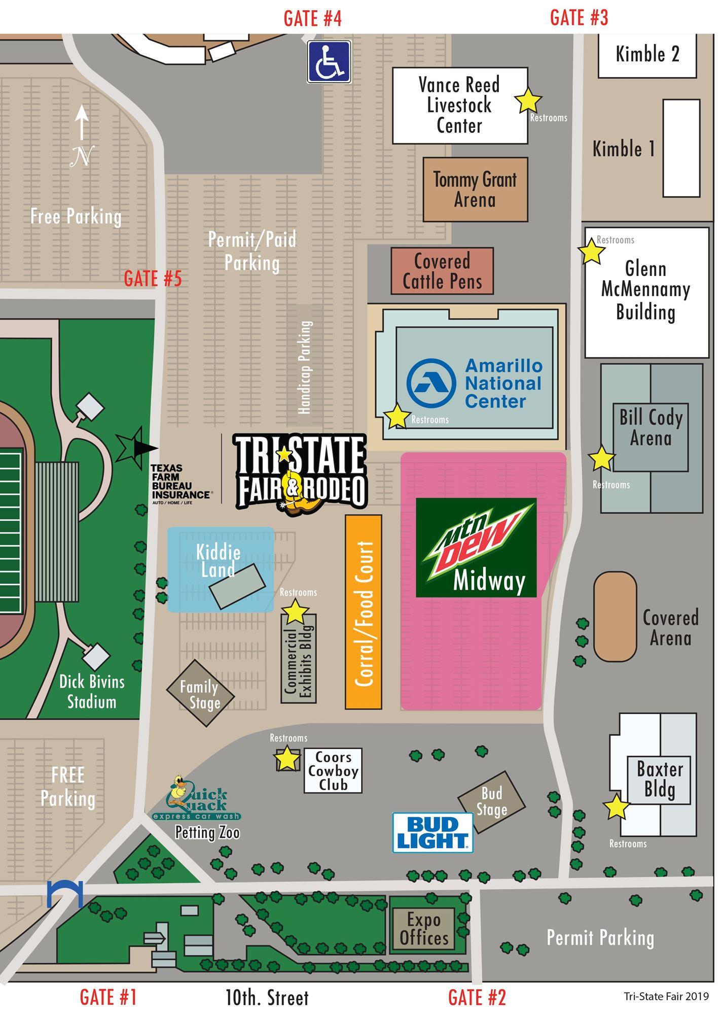 Amarillo Tri State Fair 2020.Event Map