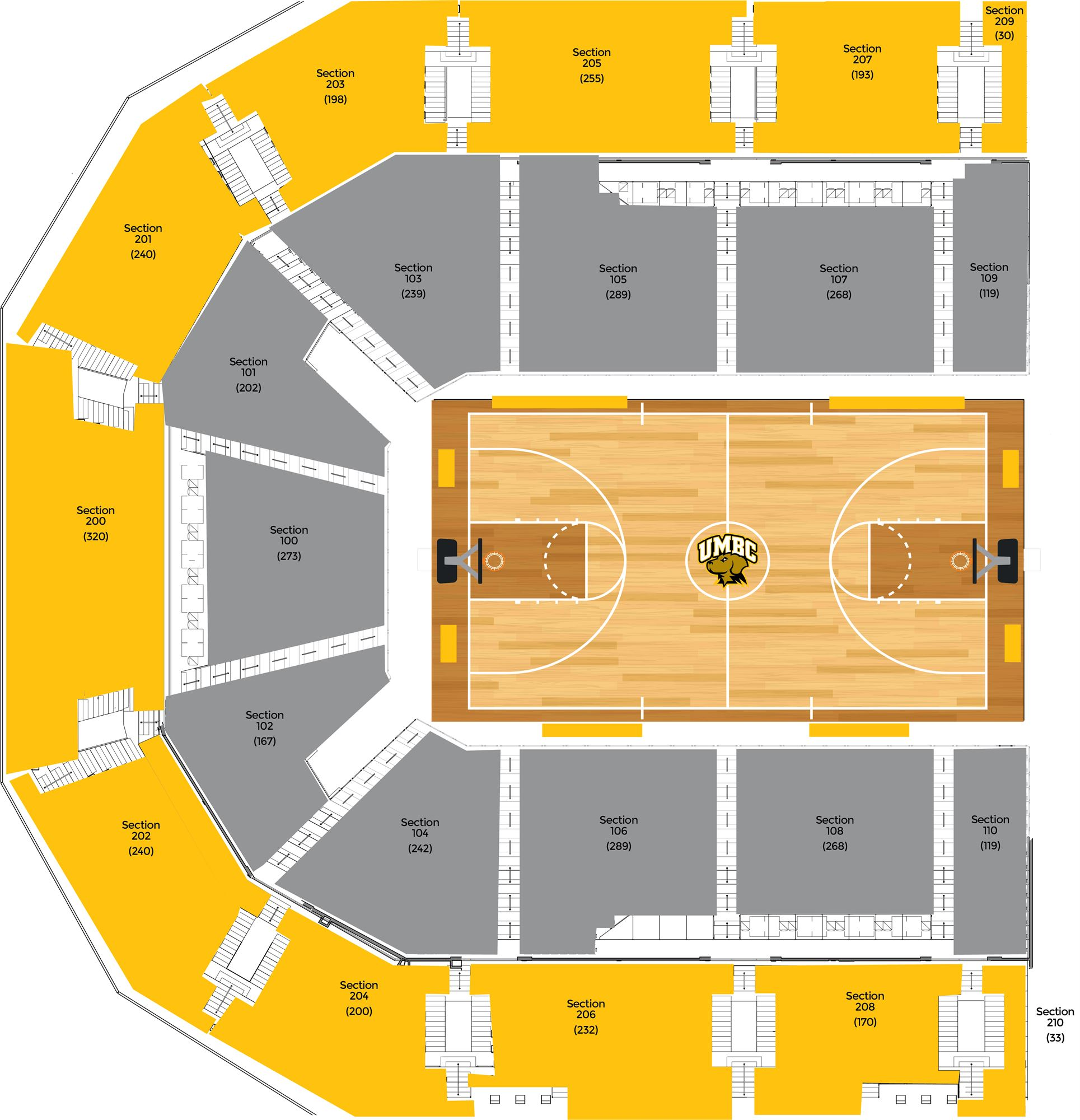 Umbc event center seating charts for Event floor plan layout