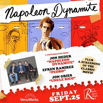"Cult Comedy ""Napoleon Dynamite"" Showing and Conversation to be Held at Rialto Square Theatre"