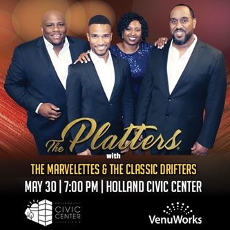 VenuWorks Presents The Platters with The Marvelettes and The Classic Drifters
