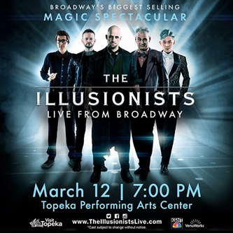 The Illusionist – Live from Broadway Comes to Topeka on March 12, 2020