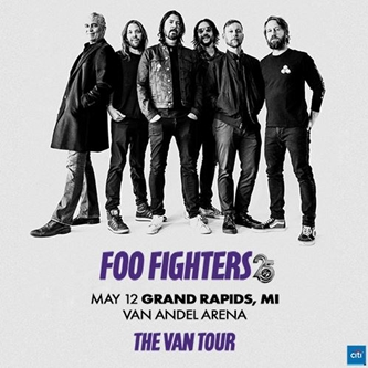 FOO FIGHTERS 25TH ANNIVERSARY CELEBRATIONS BEGIN    THE VAN TOUR TO REVISIT STOPS ALONG 1995 TOUR