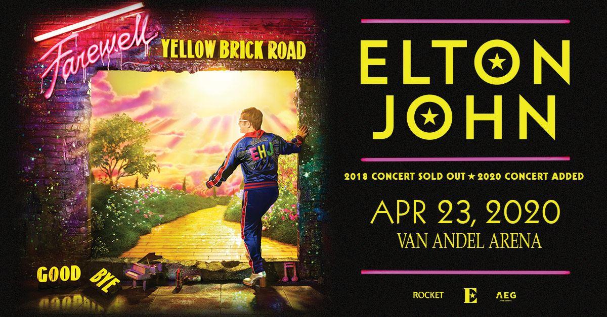 Van Andel Arena Events 2020.Elton John Farewell Yellow Brick Road Tour