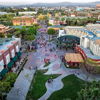 Aerial View of Downtown Disneyland