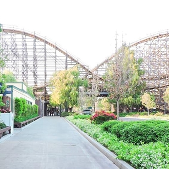 Wooden roller-coaster at Knott's Berry Farm in Buena Park, CA