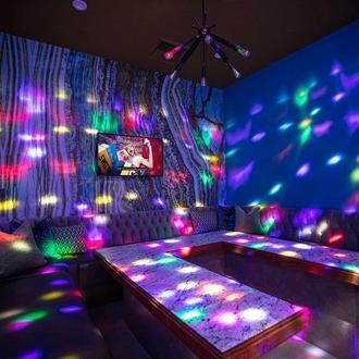 Inside karaoke lounge at EKO Karaoke in Buena Park, CA