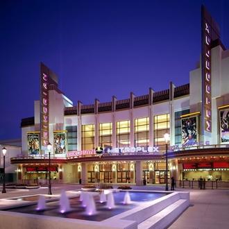 Exterior of Kirkorian Movie Theater in Buena Park, CA