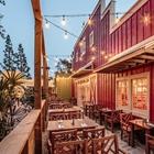 Mrs. Knott's Chicken Dinner outdoor patio in Buena Park, CA.