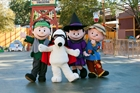 Snoopy and Peanuts Gang at Knott's Berry Farm in Buena Park, CA