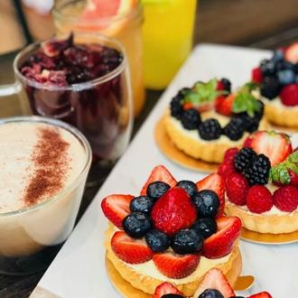 Fruit tarts at The Bakery in Buena Park, CA.