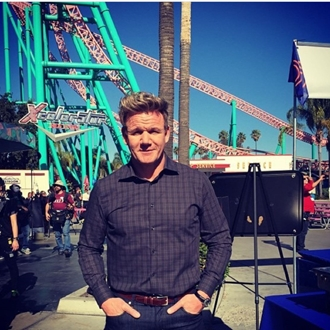 Gordon Ramsey at Knott's Berry Farm in Buena Park