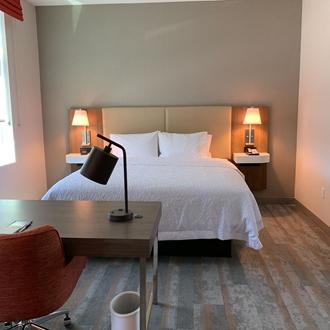 Bedroom at Hampton Inn and Suites in Buena Park, CA