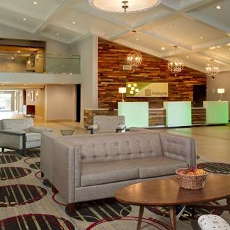 Holiday Inn lobby in Buena Park, CA.