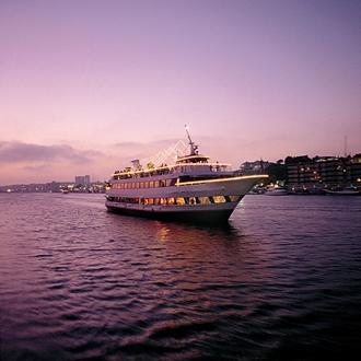 Hornblower Cruises at Sunset in Newport Beach
