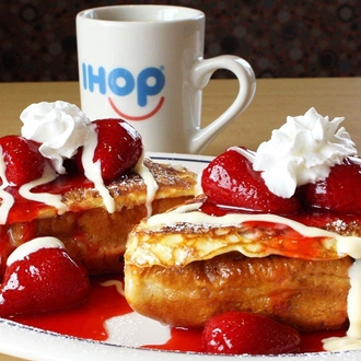 French toast and coffee at Ihop in Buena Park, CA.