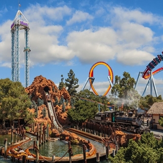 Rollercoasters at Knott's Berry Farm in Buena Park, CA